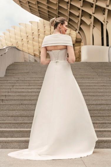 suknia ślubna TO-1142T SZAL-46 tył