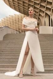 suknia ślubna TO-1142T SZAL-46 przód