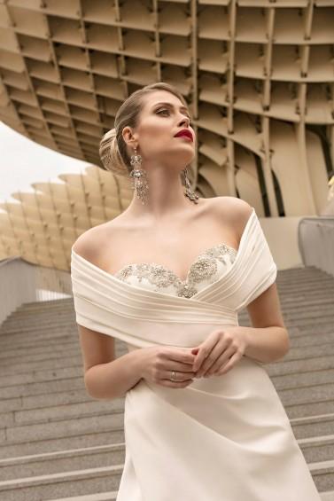 suknia ślubna TO-1142T SZAL-46 zbliżenie