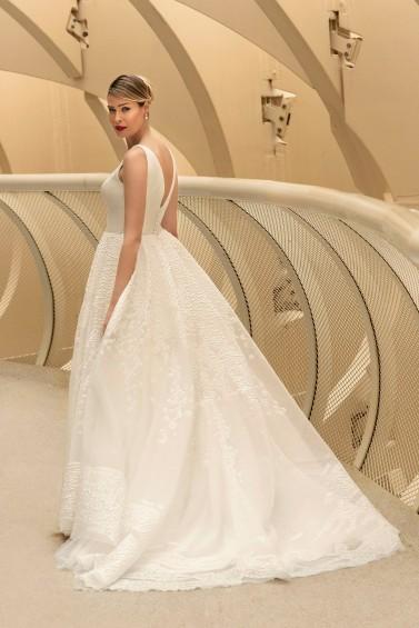 suknia ślubna TO-1186T tył