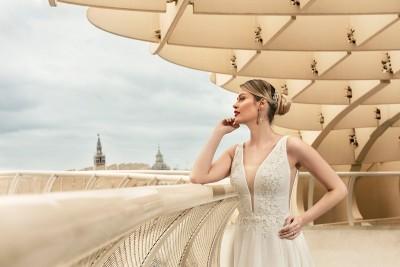 suknia ślubna TO-1195T zbliżenie