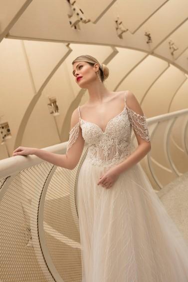 suknia ślubna TO-1220T zbliżenie