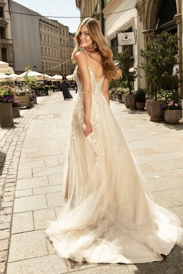 suknia ślubna TO-1240T tył
