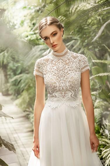 suknia ślubna TO-1249T zbliżenie
