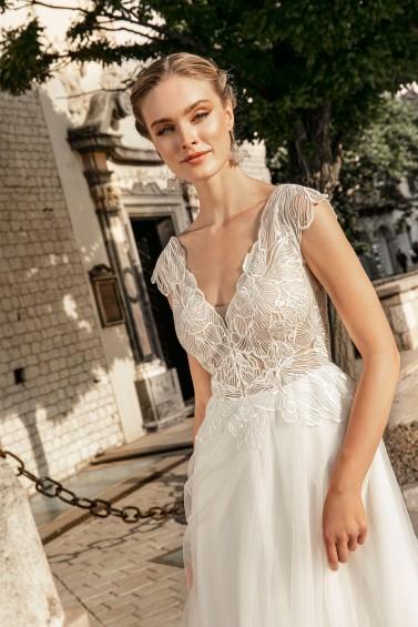 suknia ślubna TO-1250T zbliżenie