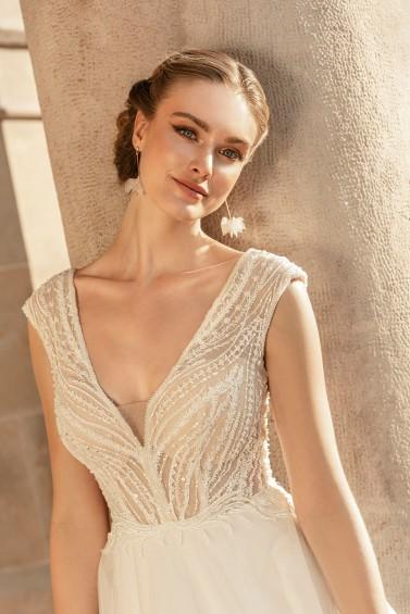suknia ślubna TO-1255T zbliżenie