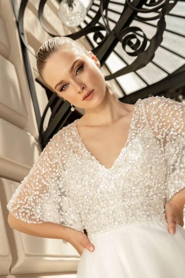 suknia ślubna TO-1261T AB-920 zbliżenie