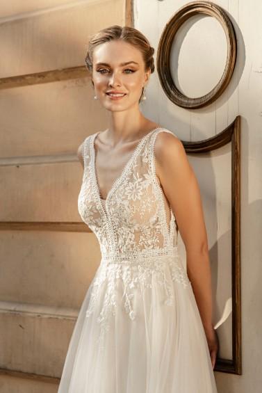 suknia ślubna TO-1268T zbliżenie