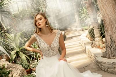 suknia ślubna TO-1281T zbliżenie