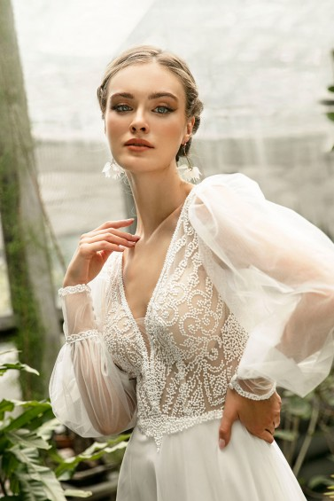 suknia ślubna TO-1305T zbliżenie