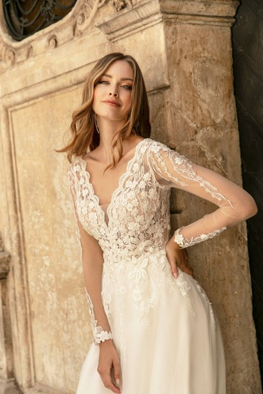 suknia ślubna TO-1309T zbliżenie