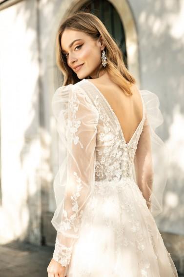 suknia ślubna TO-1317T zbliżenie
