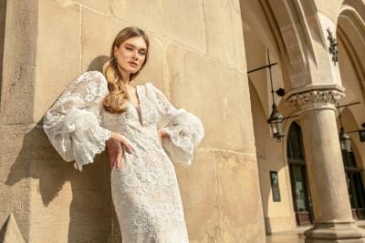 suknia ślubna TO-1318T zbliżenie