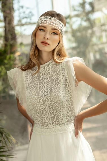 suknia ślubna TO-1327T zbliżenie