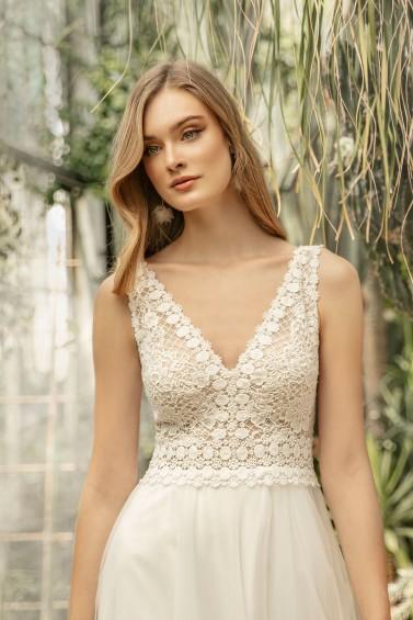 suknia ślubna TO-1332T zbliżenie