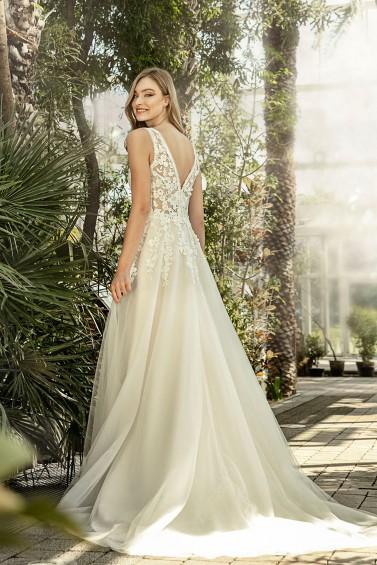 suknia ślubna TO-1347T tył