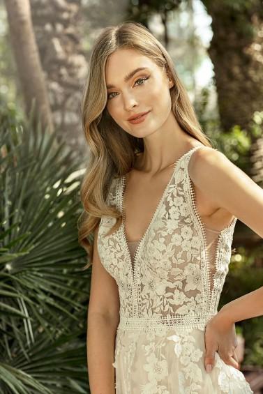 suknia ślubna TO-1347T zbliżenie
