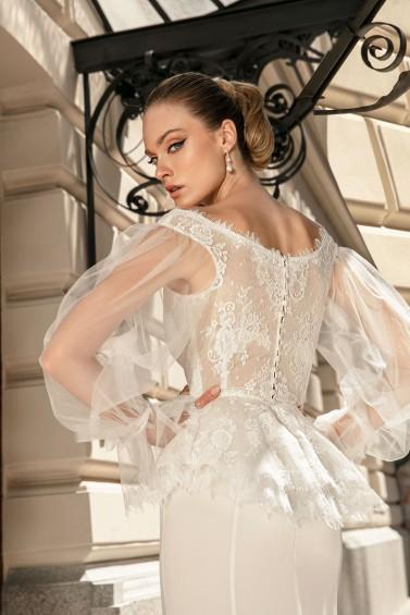 suknia ślubna TO-1353T zbliżenie