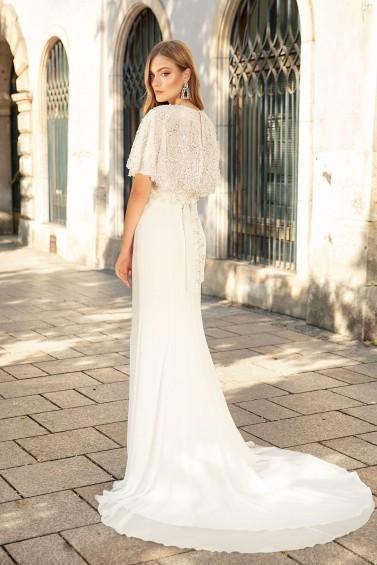 suknia ślubna TO-1356T tył