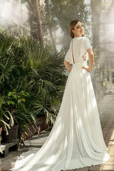suknia ślubna TO-1357T tył