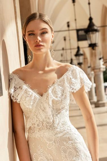suknia ślubna TO-1360T zbliżenie