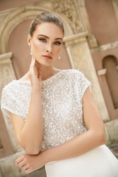 suknia ślubna TO-1379T zbliżenie