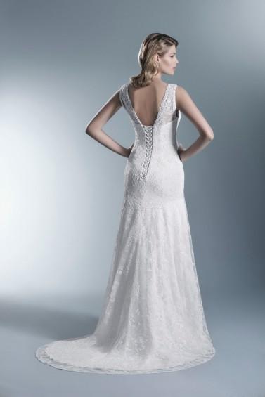 suknia ślubna TO-663T tył