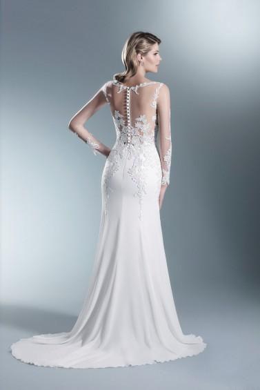 suknia ślubna TO-673T tył