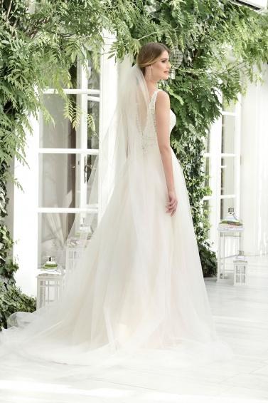 suknia ślubna TO-843T tył
