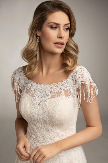 suknia ślubna TO-926T zbliżenie
