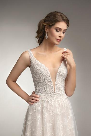 suknia ślubna TO-928T zbliżenie