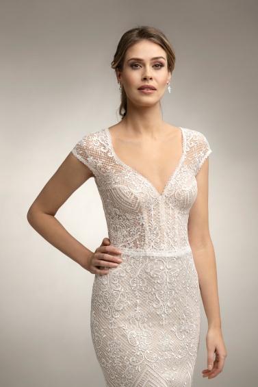 suknia ślubna TO-958T zbliżenie