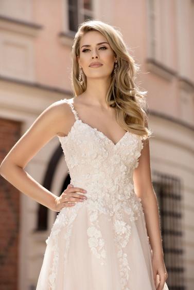 suknia ślubna TO-963T zbliżenie
