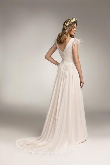 suknia ślubna TO-967T tył