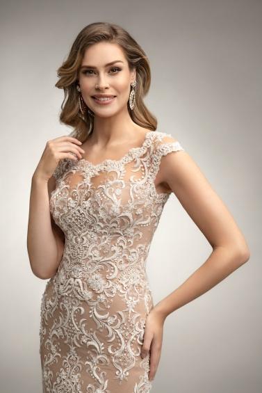 suknia ślubna TO-993T zbliżenie